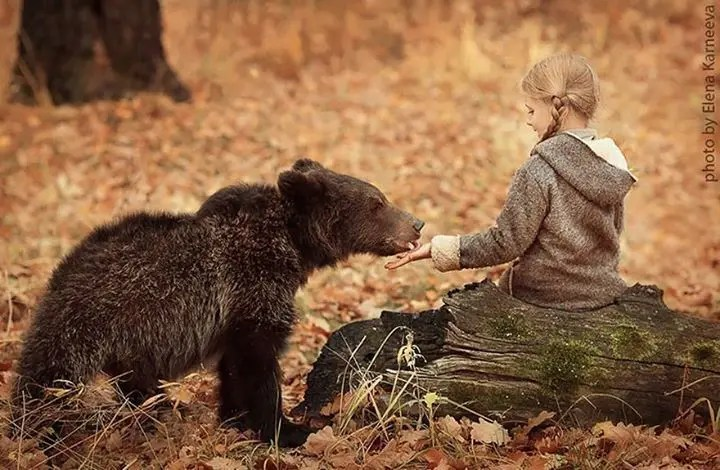 niños con animales 8
