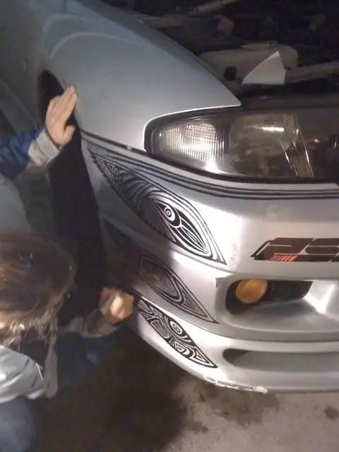 garabatos en carro 2