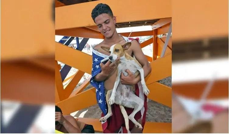 emigrante cubano y perro 1
