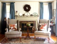 Thanksgiving Mantel and Living Room Decor
