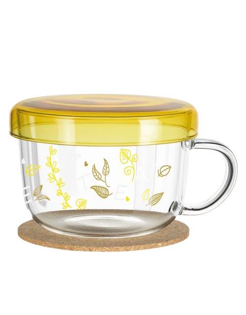 Medium Of Glass Mugs With Lids