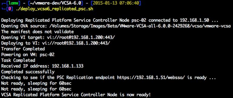 vcsa-6.0-replicated-platform-service-controller-node-deployment