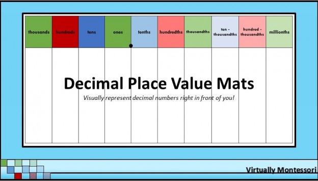 Decimal Place Value Charts / Mats - 85\ - place value chart