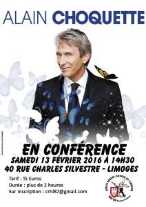 Conférence de Alain CHOQUETTE (87) @ Cercle Robert Houdin du Limousin