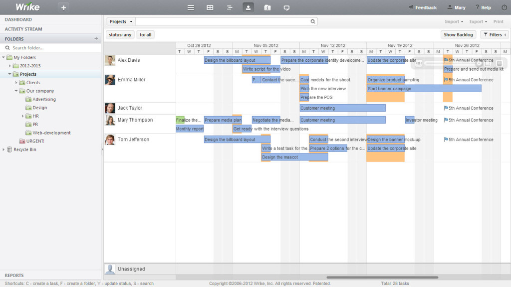 Wrike - Project Management Software that makes a difference - using access for project management