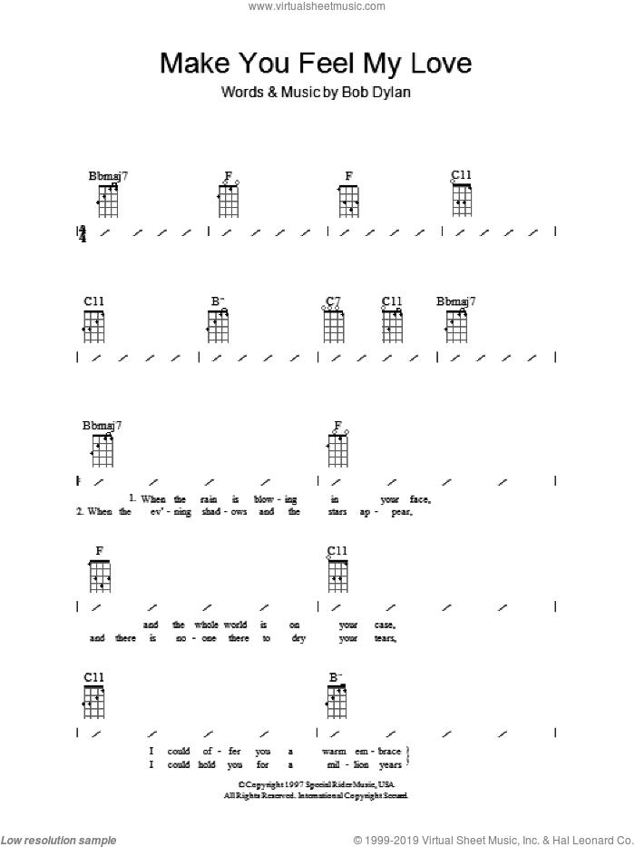 Make You Feel My Love Chord Bob Dylan - LTT