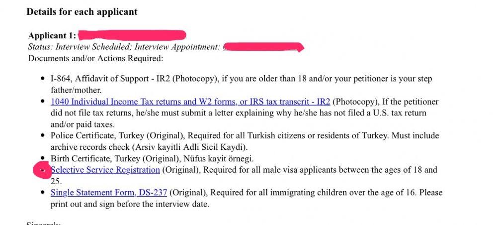 Selective Service Registration? - Bringing Family Members of US - selective service registration form
