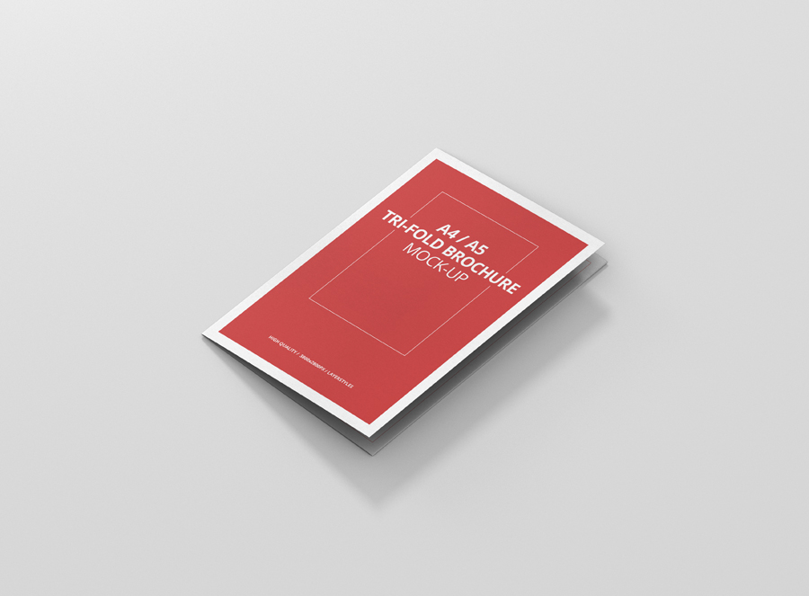 A4 / A5 Tri-Fold Brochure Mock-Up - Premium and Free Mockups for - Tri Fold Brochures Free