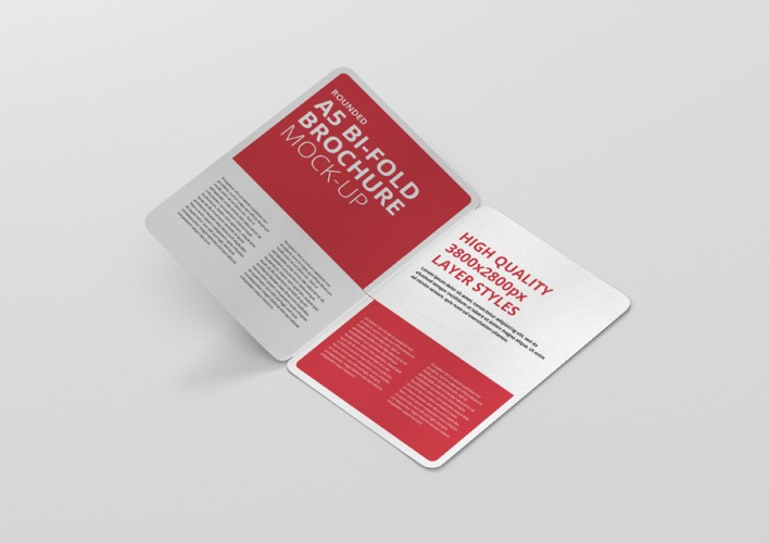 Bi Fold Brochure Mockup - Premium and Free Mockups Viscon Design