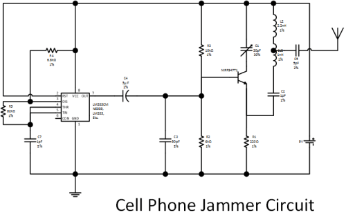 figure1 cell phone jammer circuit diagram