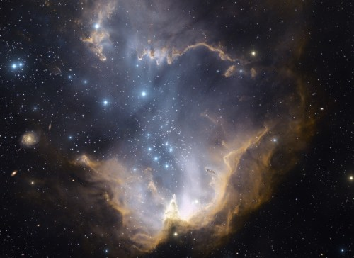 Amas ouvert NGC 602 (ou nébuleuse N90, selon les sources, mais ça serait la même chose…ah ces scientifiques).