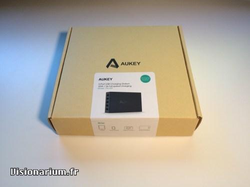 test chargeur Aukey sur Amazon : déballage