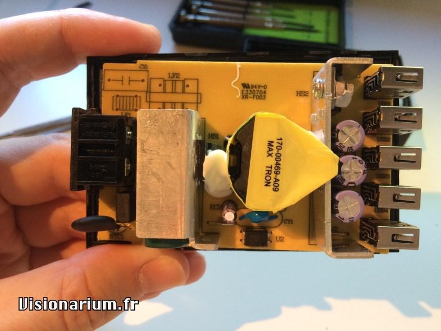 test chargeur Aukey sur Amazon : intérieur