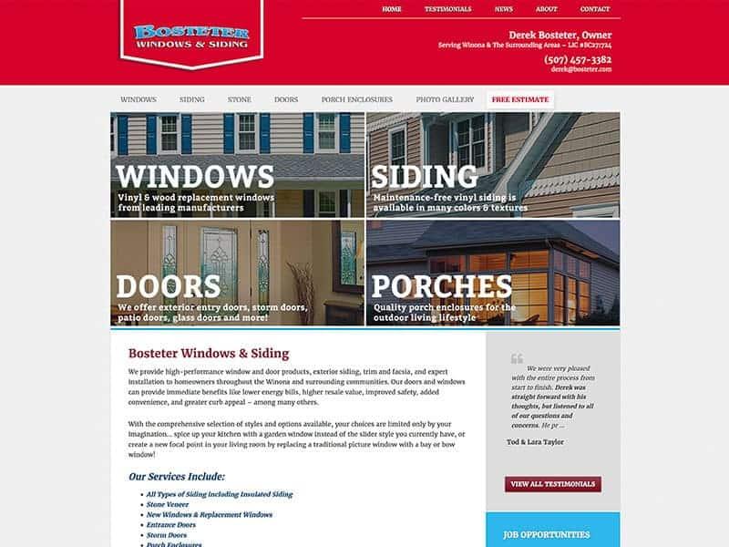 Building  Construction Website Design - Vision Design Group
