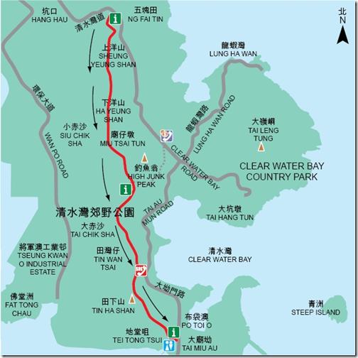 Trail Map - Hiking Clear Water Bay's High Junk Peak