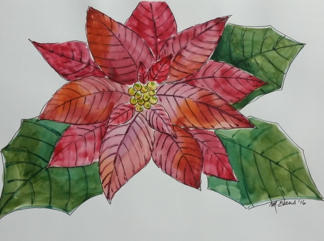HOLIDAY WATERCOLOR POINSETTIA CARD WORKSHOP - Visit Aiken SC