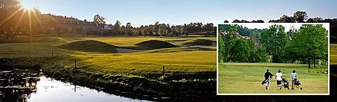 Golfbanen ligger på Dyrløkke, like før du kommer til Drøbak.