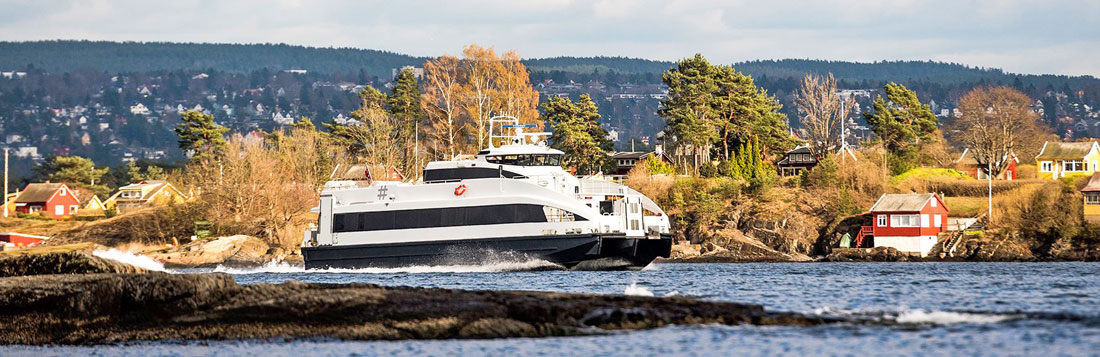 The speedy ferries take you through a most amazing fjord environment. Photo © Ruter.