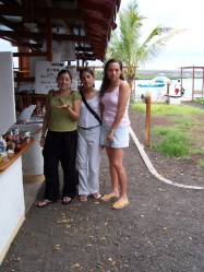 Together with my sister and cousin, 2005