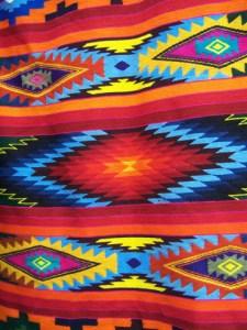 Tapestries in bright colors Otavalo, Ecuador © Carmen Cristina Carpio