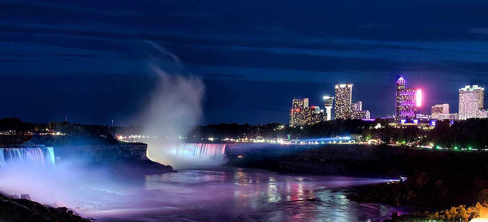 Niagara Falls At Night Wallpaper Events Visit Niagara Canada