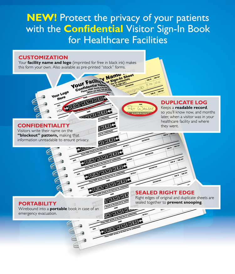 Confidential Sign-In Book, protect the privacy of your patients, 2
