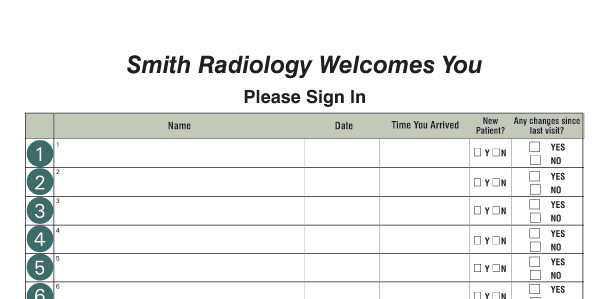 Custom Sign-in Log Examples - example sign in sheet
