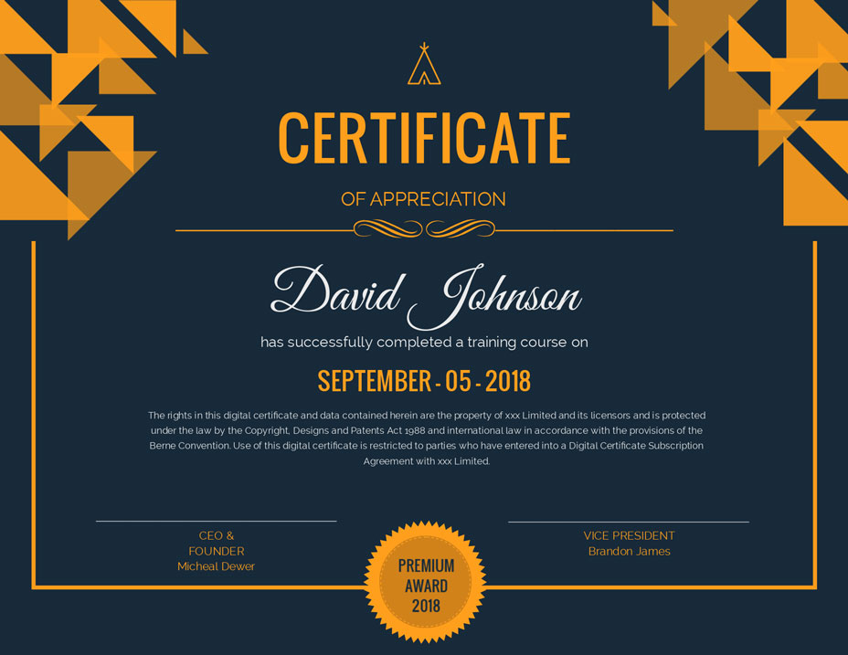 create your own certificate template