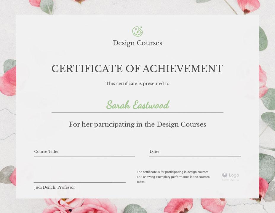 Free Certificate Maker Certificate Generator Visme