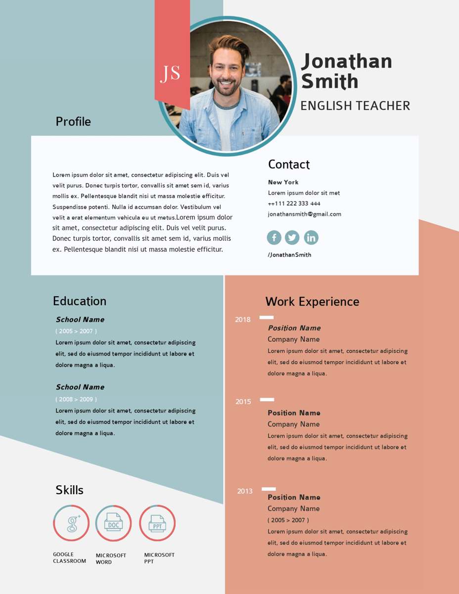 teacher resume builder online