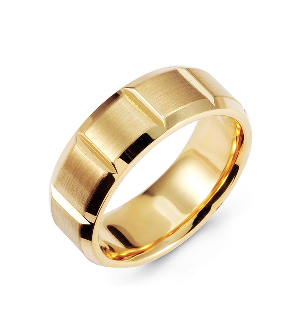 14k yellow gold wedding band brushed polished ring brushed gold wedding band Show off your love of fashion with this gorgeous wedding ring