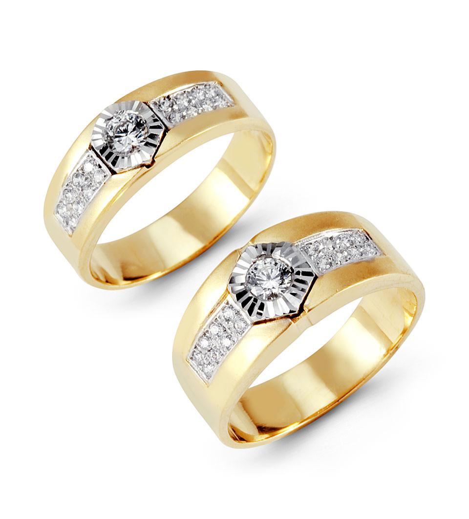 14k yellow white gold round channel cz wedding band set cz wedding band Wear matching wedding bands