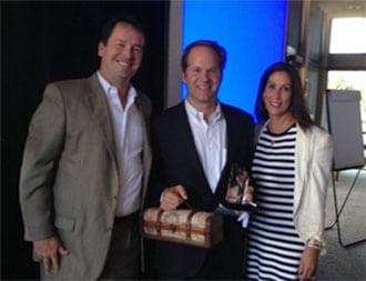 Chair Troy Rice, Jason Lavin, and Regional Executive Lesley Sarkesian