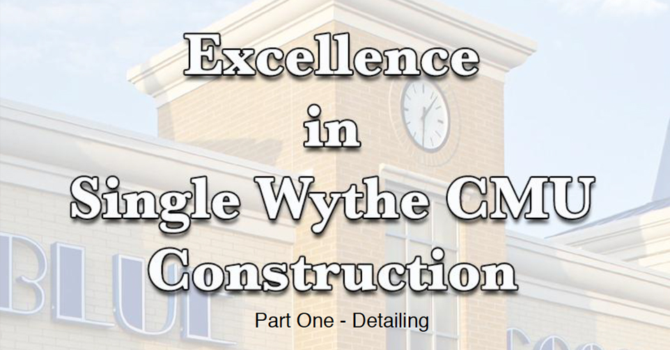 Single Wythe CMU by Michael Hyatt\u0027s 7 Rules \u2013 A Learning Experience
