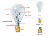 Incandescent Light Bulb Parts | www.pixshark.com - Images ...