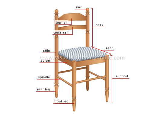 House House Furniture Side Chair Parts Image