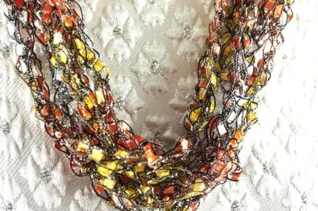 How To Make A Ladder Yarn Adjustable Crochet Necklace