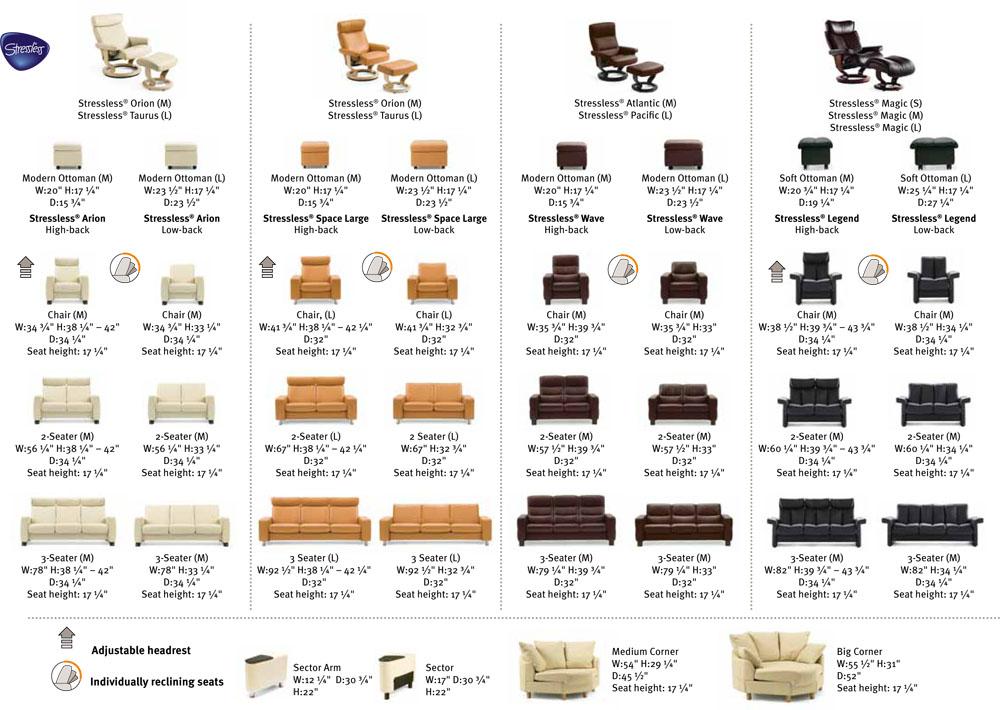Ekornes Stressless Recliner And Sofa Sizes Dimensions Recliner Chair Lounger Ekornes