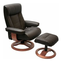 Scansit 110 Ergonomic Leather Recliner Chair + Ottoman ...