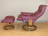 Stressless Royal Paloma Winered Leather Recliner Chair