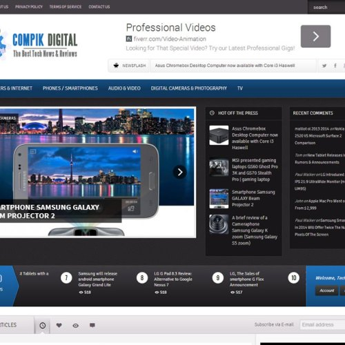 Website Design Complete – www.compikdigital.com