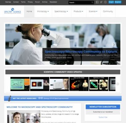 Website Design Complete – www.spectroscience.com
