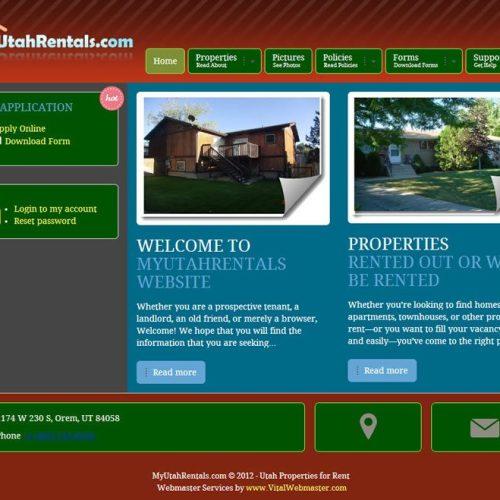 Website Redesign Complete – www.MyUtahRentals.com