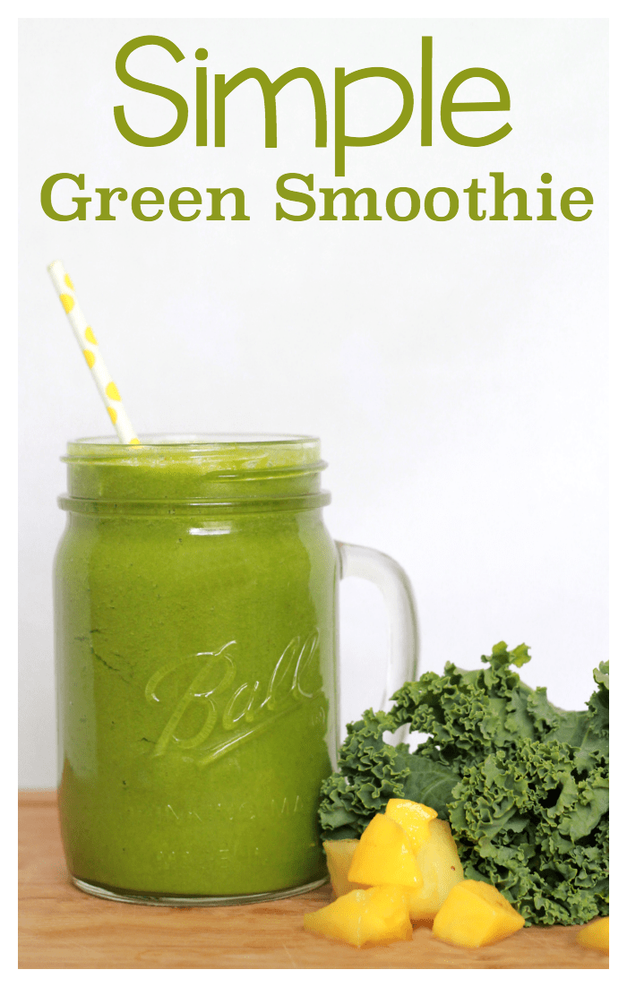 simple green smoothie that actually tastes good! This green smoothie ...