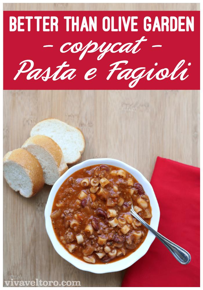 Better Than Olive Garden Pasta E Fagioli Copycat Recipe Viva Veltoro