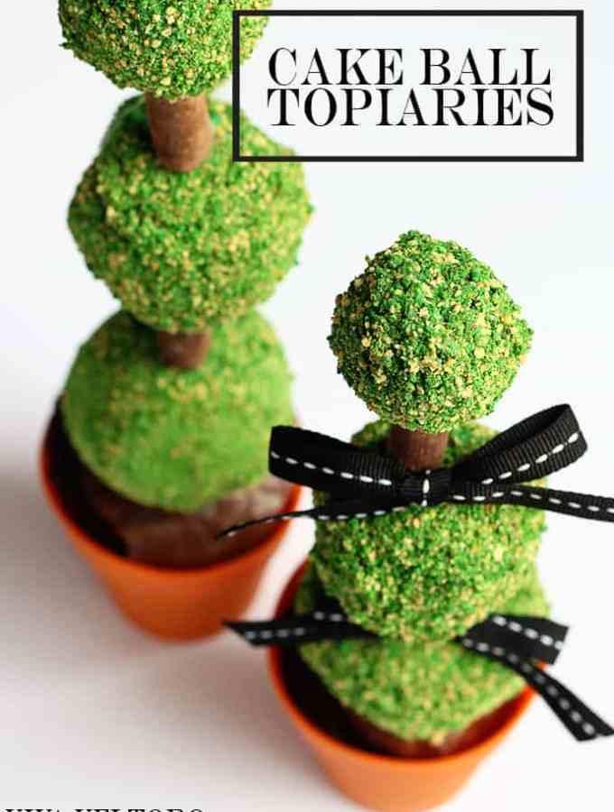 cake ball topiaries