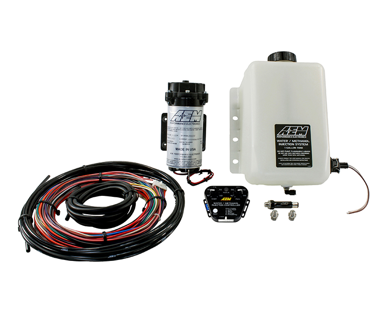 AEM V2 Water Methanol Injection Kit Multi Input Controller with 1 Gallon  Tank