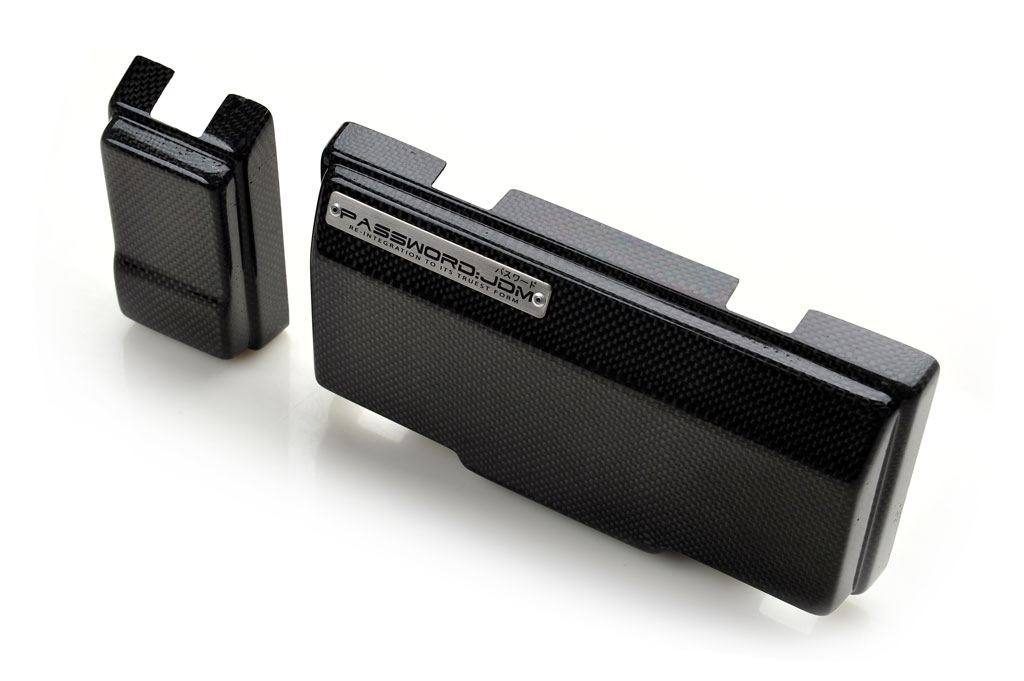 Password JDM Dry Carbon Fiber Fuse Box Over-Cover Honda S2000 00-09