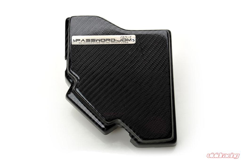 Password JDM Dry Carbon Fiber Fuse Box Over-Cover Honda Civic 06-11