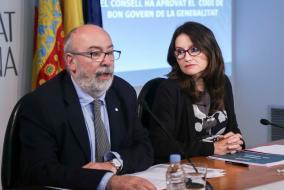 Rueda de prensa de la Vicepresidenta del Consell, Monica Oltra, posterior al pleno del Consell. 06/05/2016. Foto: J.A.Calahorro.